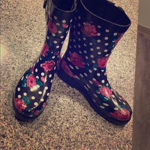 One of a kind stylish rain boots.